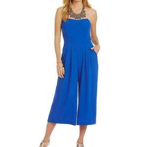 GB Strapless Blue Jumpsuit